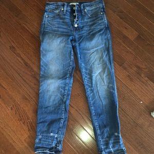 Madewell slim straight jeans. Sz 28